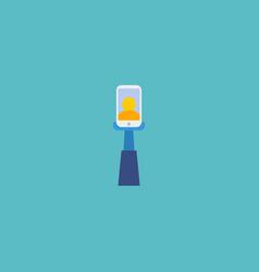 flat icon selfie element of vector image vector image