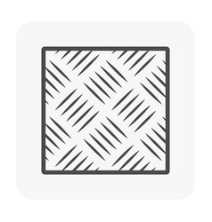 floor icon black vector image