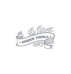 flourish logo vector image
