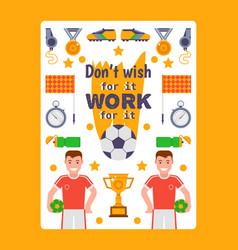 football inspirational poster vector image