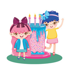 girls birthday party vector image