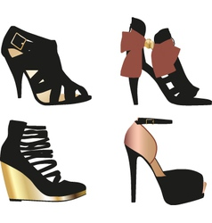 Glamour shoes vector