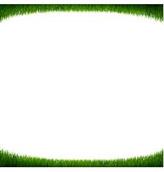 green grass frame white background vector image