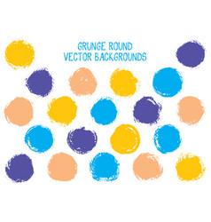 grunge circles design vector image
