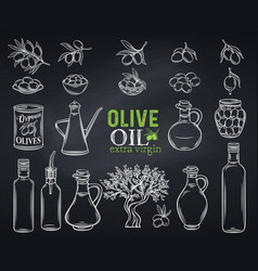 Hand drawn olives vector