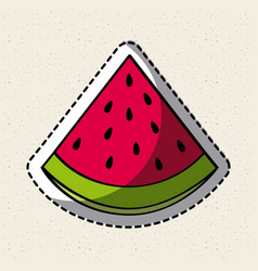 healthy fruit icon vector image