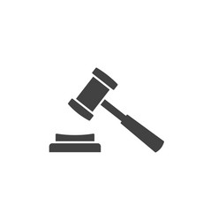 judge hammer icon images vector image