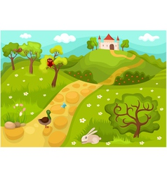 Landscape card vector