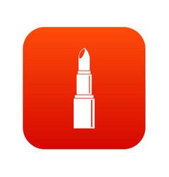 Lipstick icon digital red vector