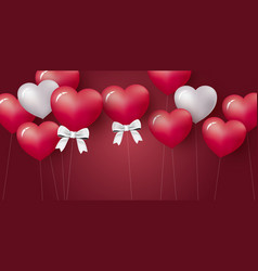 love concept design of heart balloon vector image