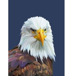 Low poly poster with eagle vector image vector image
