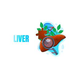 Medical banner lever magnifying glass biology vector