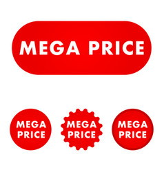 Mega price button vector