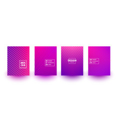 minimal cover layout designs bright neon vector image