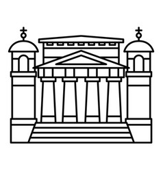 modern church icon outline style vector image