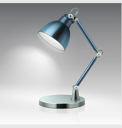 modern office table metal lamp vector image