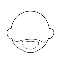 old man face cartoon vector image