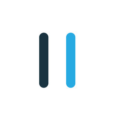 pause colorful icon symbol premium quality vector image