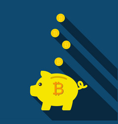 piggy bank for saving coins pig piggy bank with vector image
