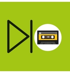 Play music cassette tape vector