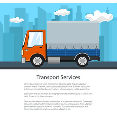 Poster of small covered truck vector