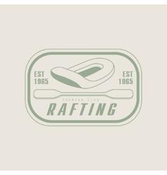 Rafting emblem design vector