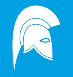 roman helmet icon white vector image vector image