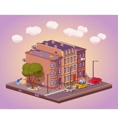 Scene of the urban street life vector