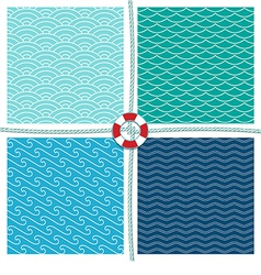 Sea pattern set background vector image vector image