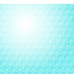 Seamless abstract blue hexagon pattern vector image