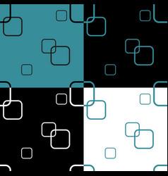 Seamless pattern with four colored square vector