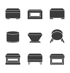 Set of pouf vector image