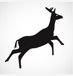 simple deer silhouette with white background vector image