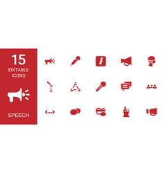 Speech icons vector