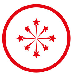 Star burst fireworks rounded icon vector