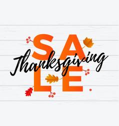 thanksgiving autumn sale banner discount vector image