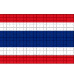 The mosaic flag of Thailand vector