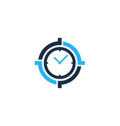 time target logo icon design vector image
