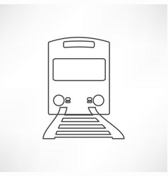 Train outline vector