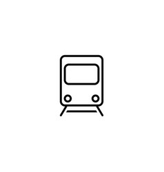 train subway icon vector image