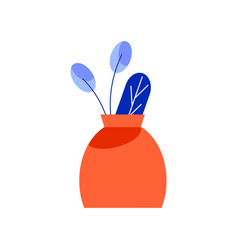Vase with needles composition vector