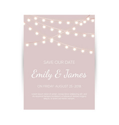 wedding invitation card elegant design template vector image