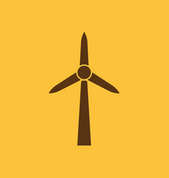 Windmill icon power and renewable generator vector