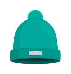 Winter hat isolated flat vector