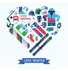 Winter Lifestyle Background vector image
