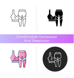 Workout clothes icon vector