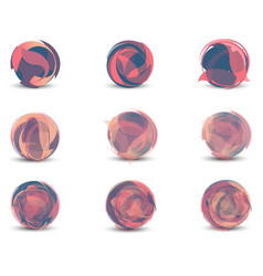 abstract geometric sphere set pink graphic vector image vector image