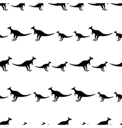 black animal kangaroo seamless pattern eps10 vector image vector image