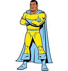 Black Superhero vector image vector image
