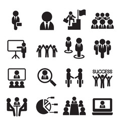 Business teamwork training seminar meeting vector